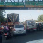 Heavy traffic jam at Mumbai Western Express Highway